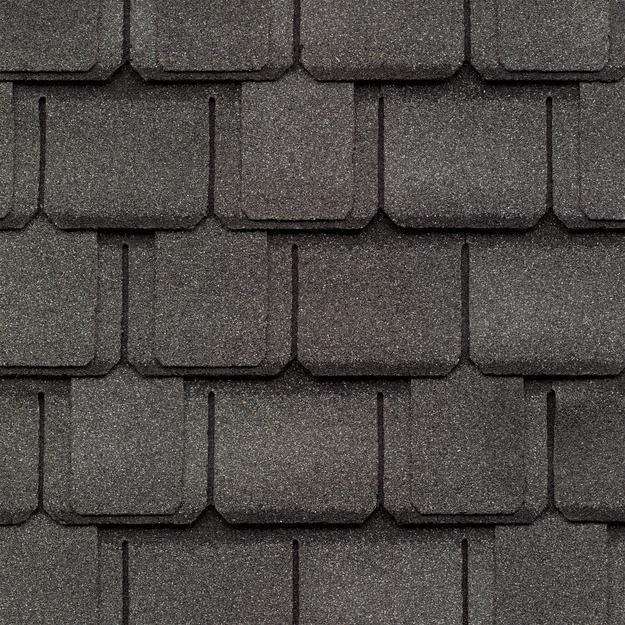 Close-up photo of GAF's Camelot Antique Slate shingle swatch