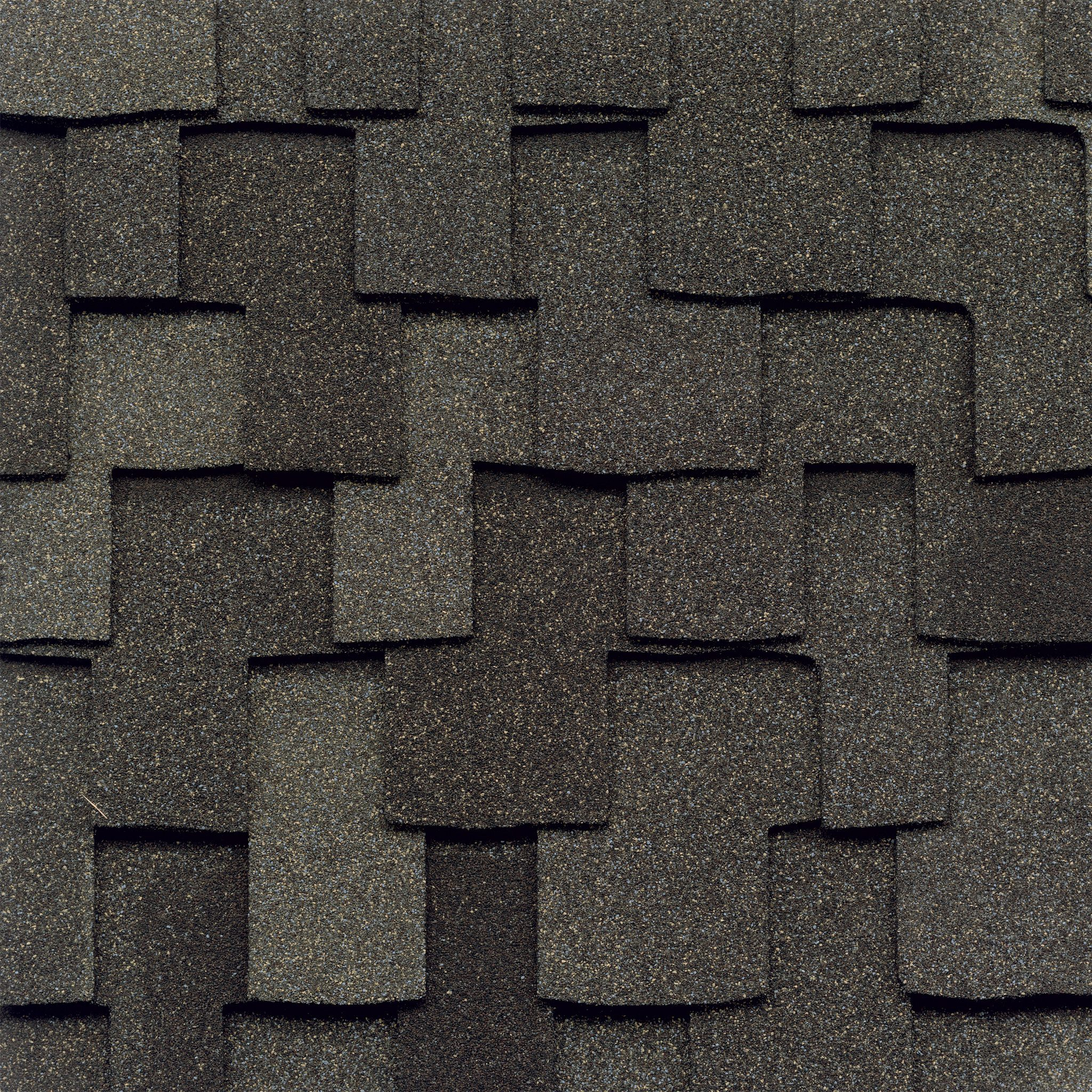 Close-up photo of GAF's Grand Canyon Mission Brown shingle swatch