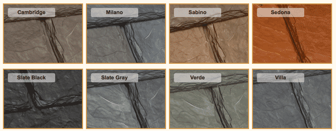 Single-Width Valoré Slate Tile Colors