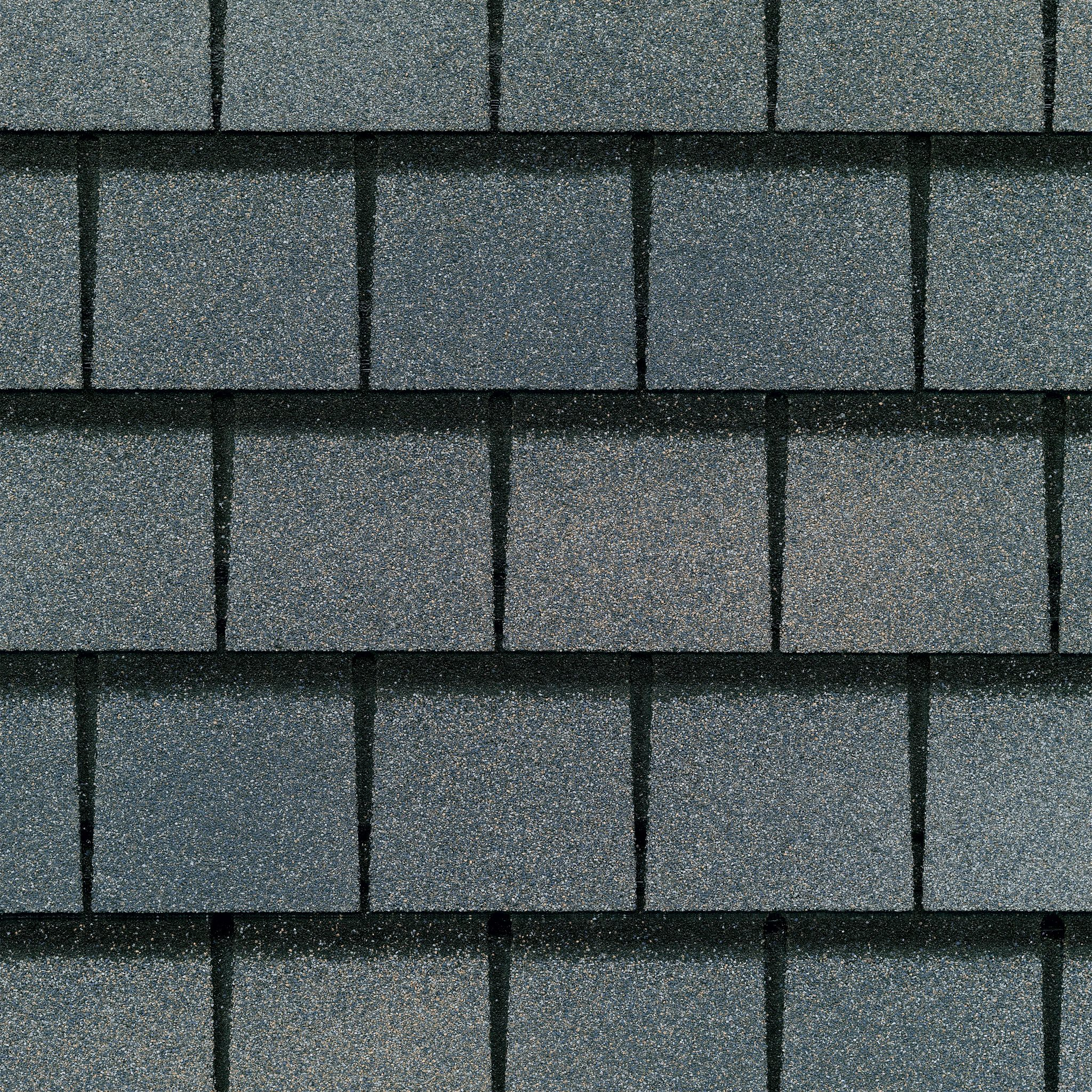 Close up photo of GAF's Slateline Mariner Blue shingle swatch