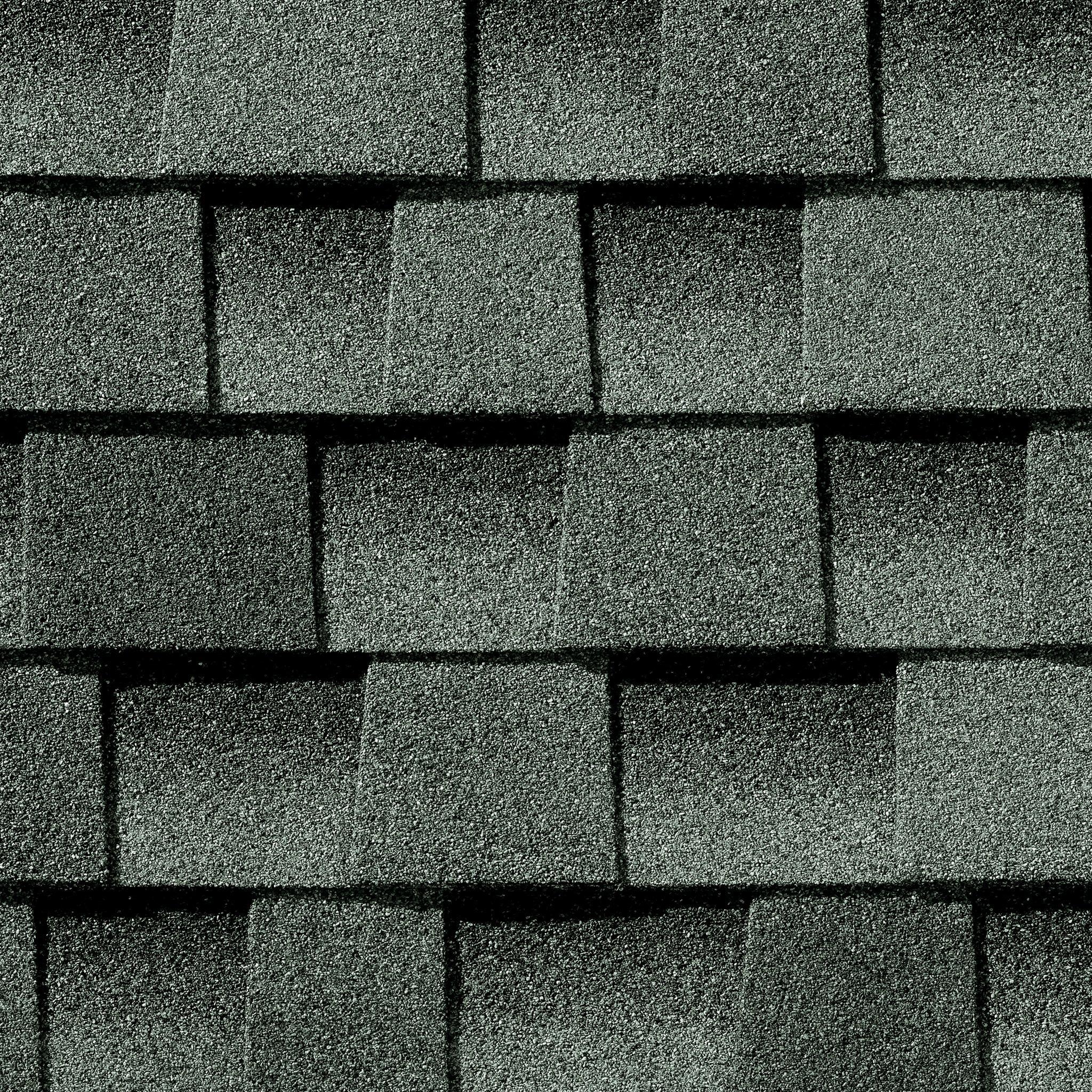 Close up photo of GAF's Timberline HD Slate shingle swatch