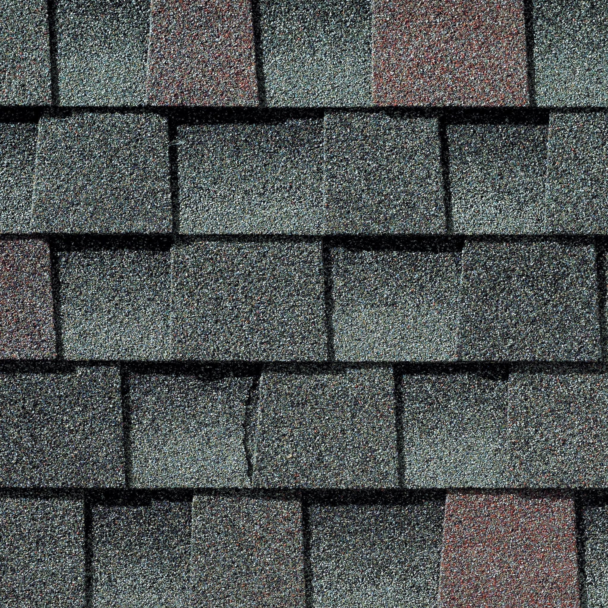 Close up photo of GAF's Timberline HD Williamsburg Slate shingle swatch
