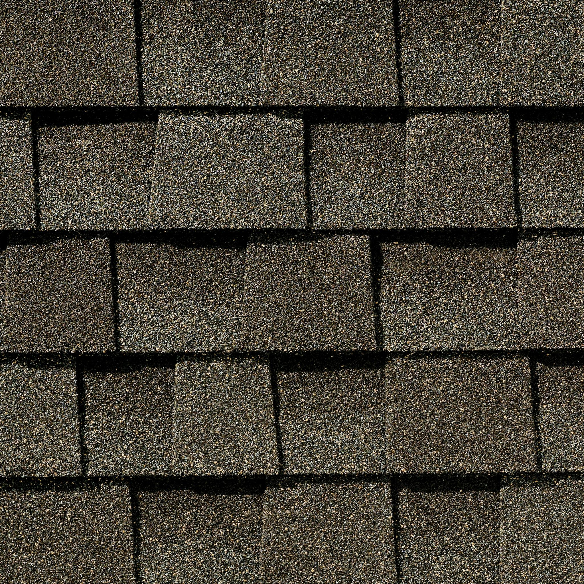 Close up photo of GAF's Timberline Natural Shadow Weathered Wood shingle swatch