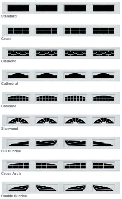 Long Garage Door Window Panel Designs