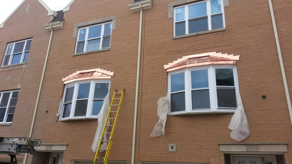 Copper Bay Windows & Copper Soffit Fascia - Chicago, IL Window Installation