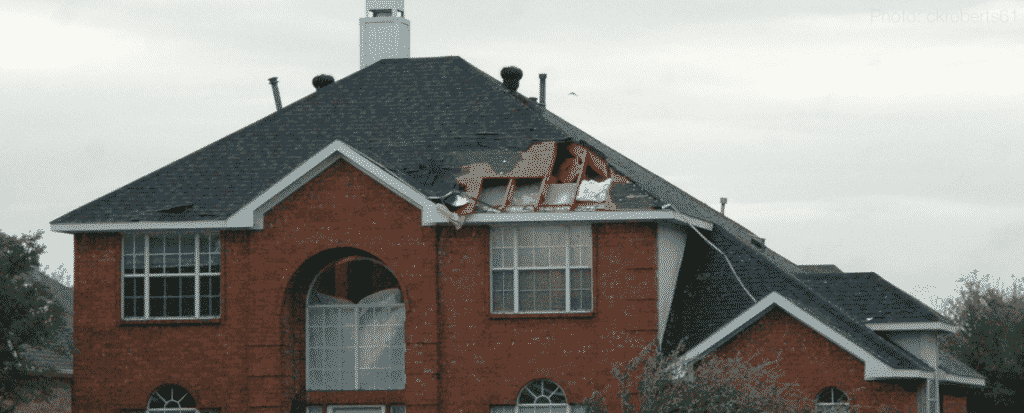 Hail Damage to Roof due to Storm