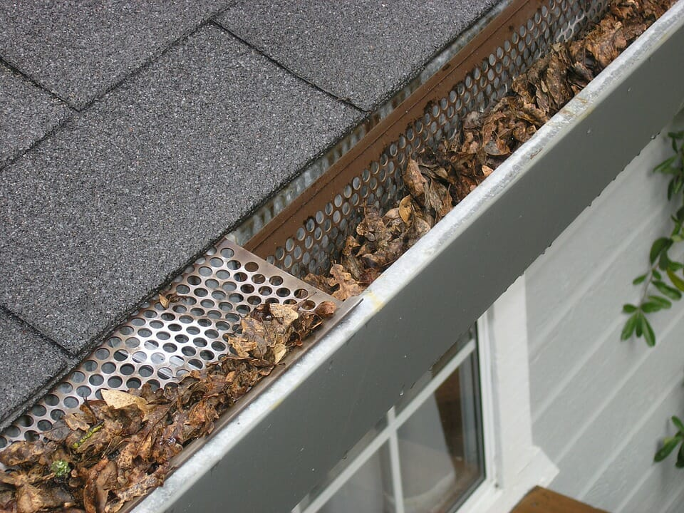 Gutter with debris