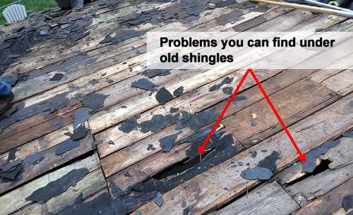 Hidden problems under bad shingles