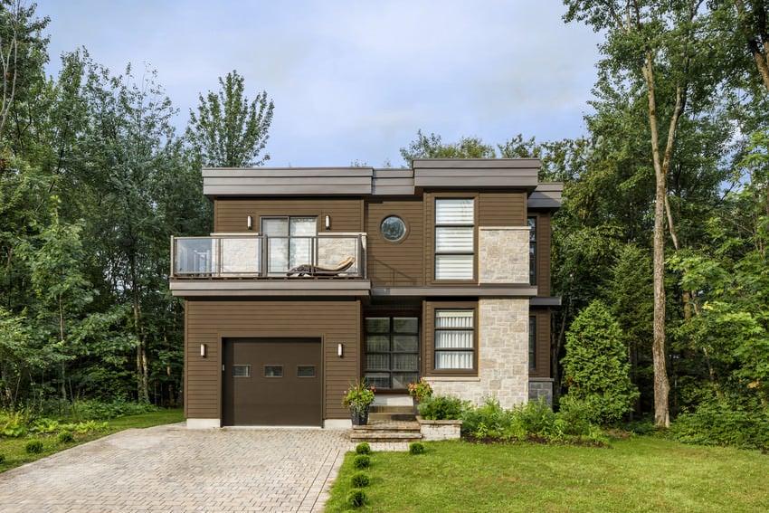 HardiePlank Select Cedarmill, Chestnut Brown
