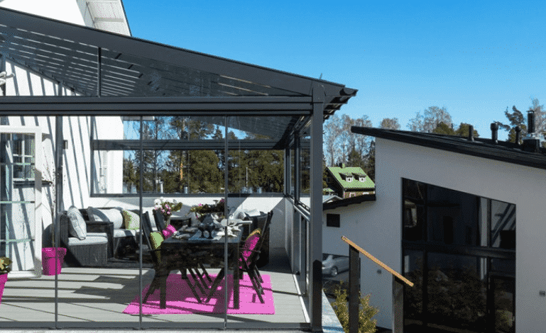 Lumon glass terrace