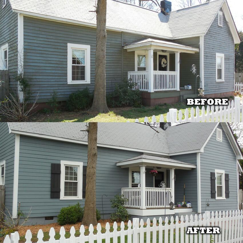 Before and After James Hardie Siding