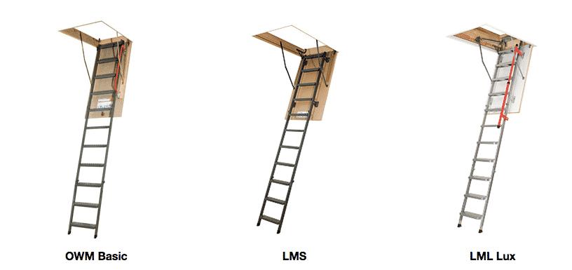 Metal attic ladders