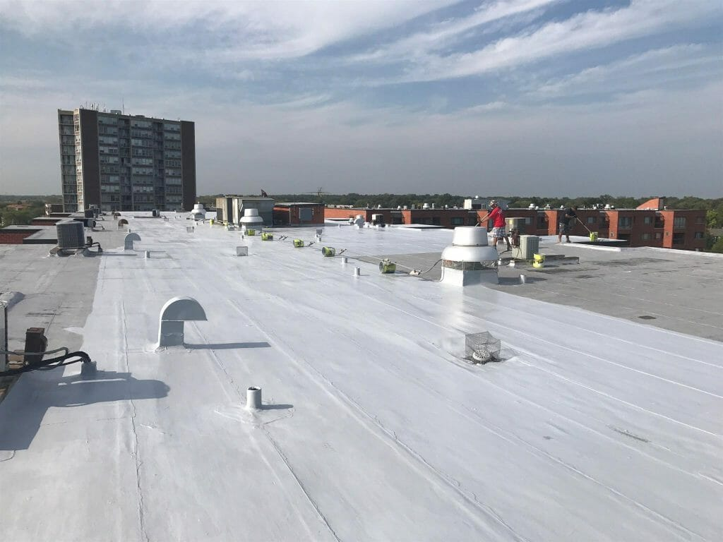 Silicone based roof sealants are more flexible than their acrylic counterparts