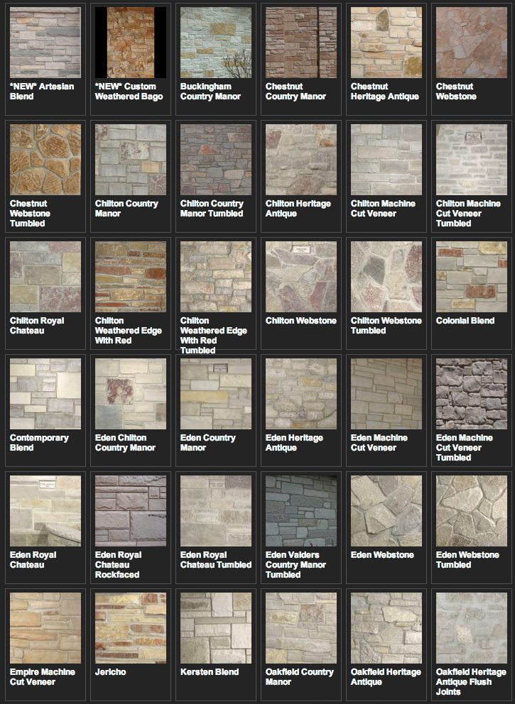Building Stone Examples