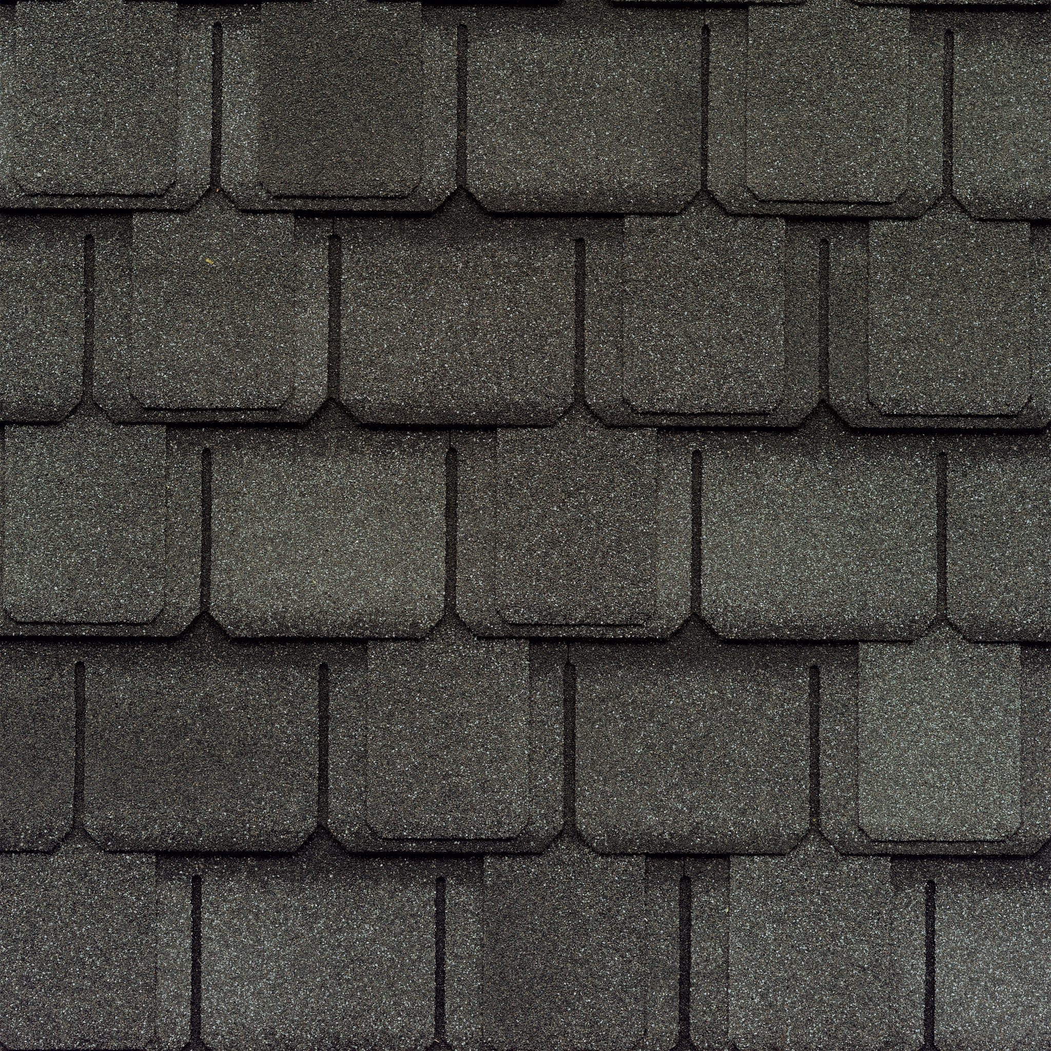Close-up of GAF's Camelot II Antique Slate shingle swatch