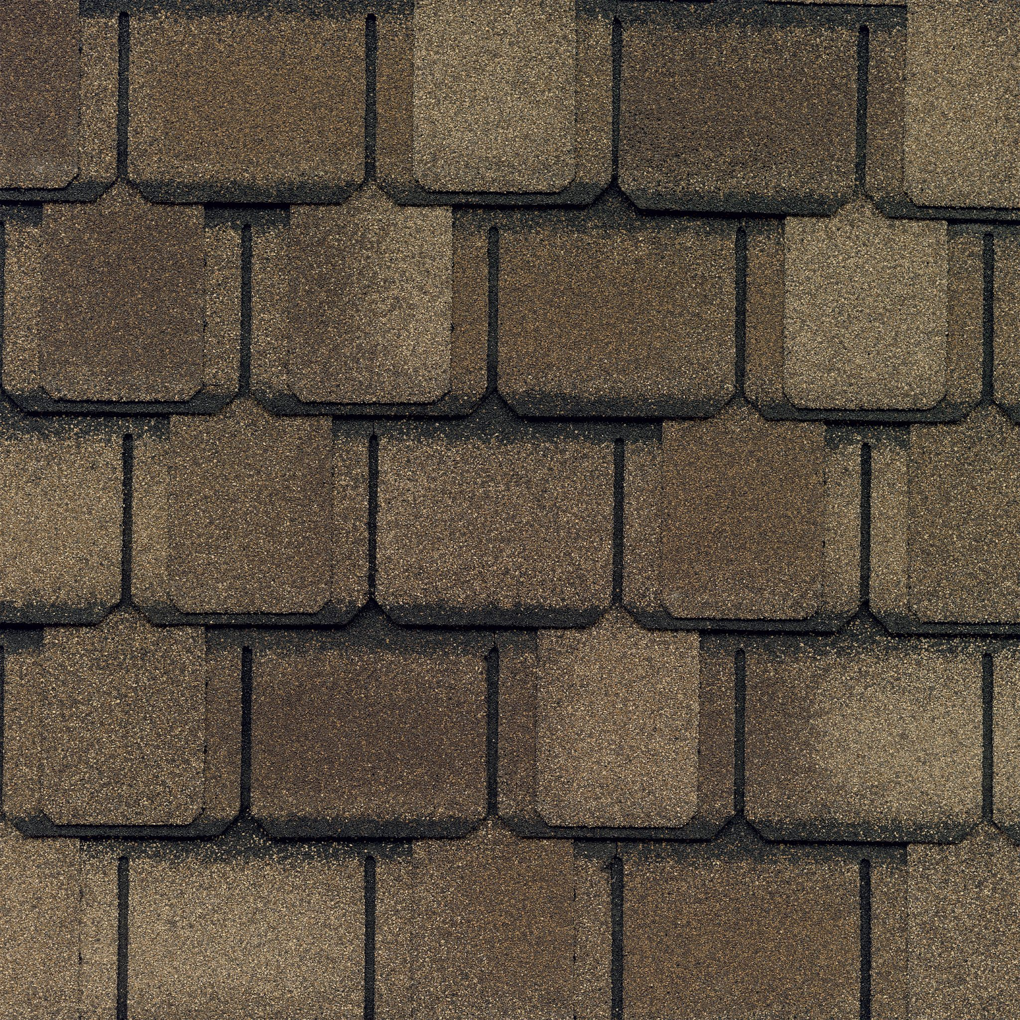 Close-up photo of GAF's Camelot II Shakewood shingle swatch