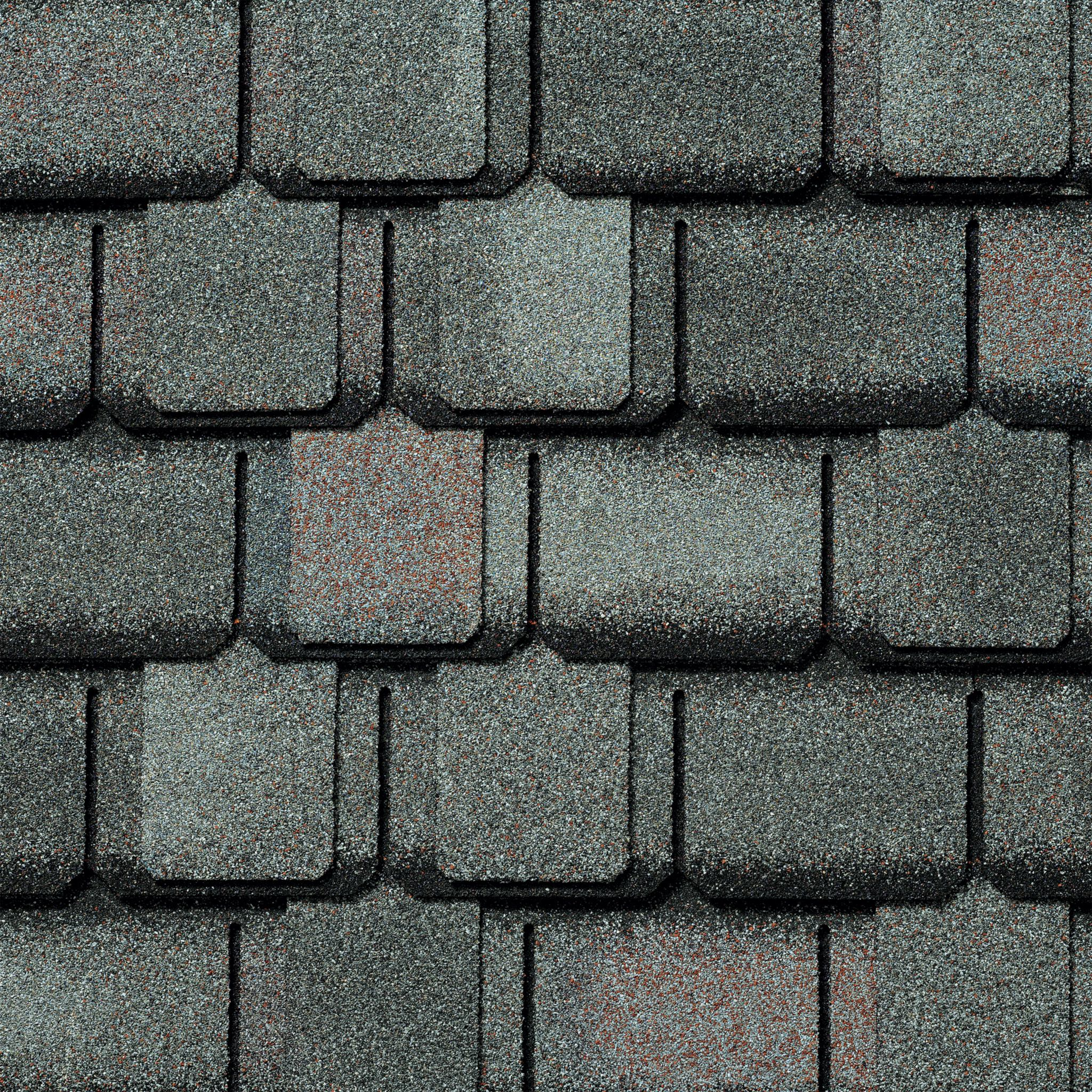 Close-up of GAF's Camelot Williamsburg Slate shingle swatch