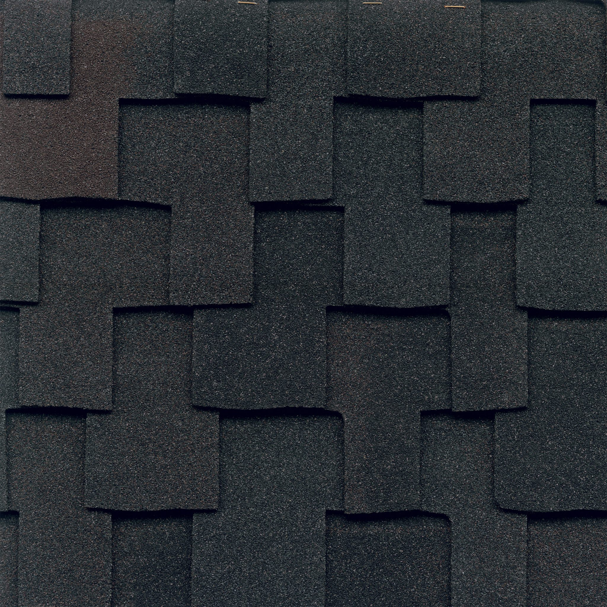 Close-up photo of GAF's Grand Canyon Black Oak shingle swatch