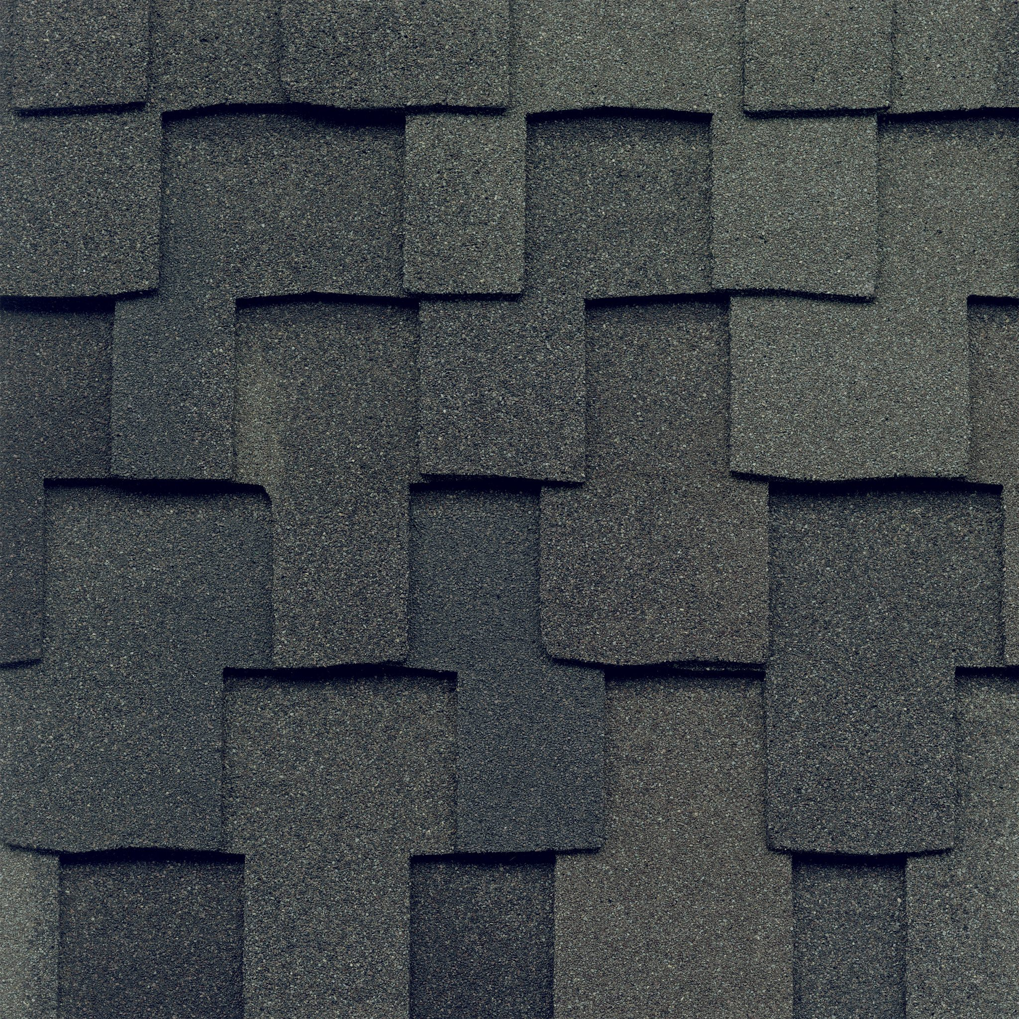 Close-up photo of GAF's Grand Canyon Stormcloud Gray shingle swatch