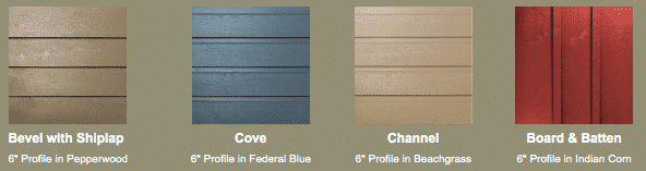 Frasier Solid Wood Siding Styles