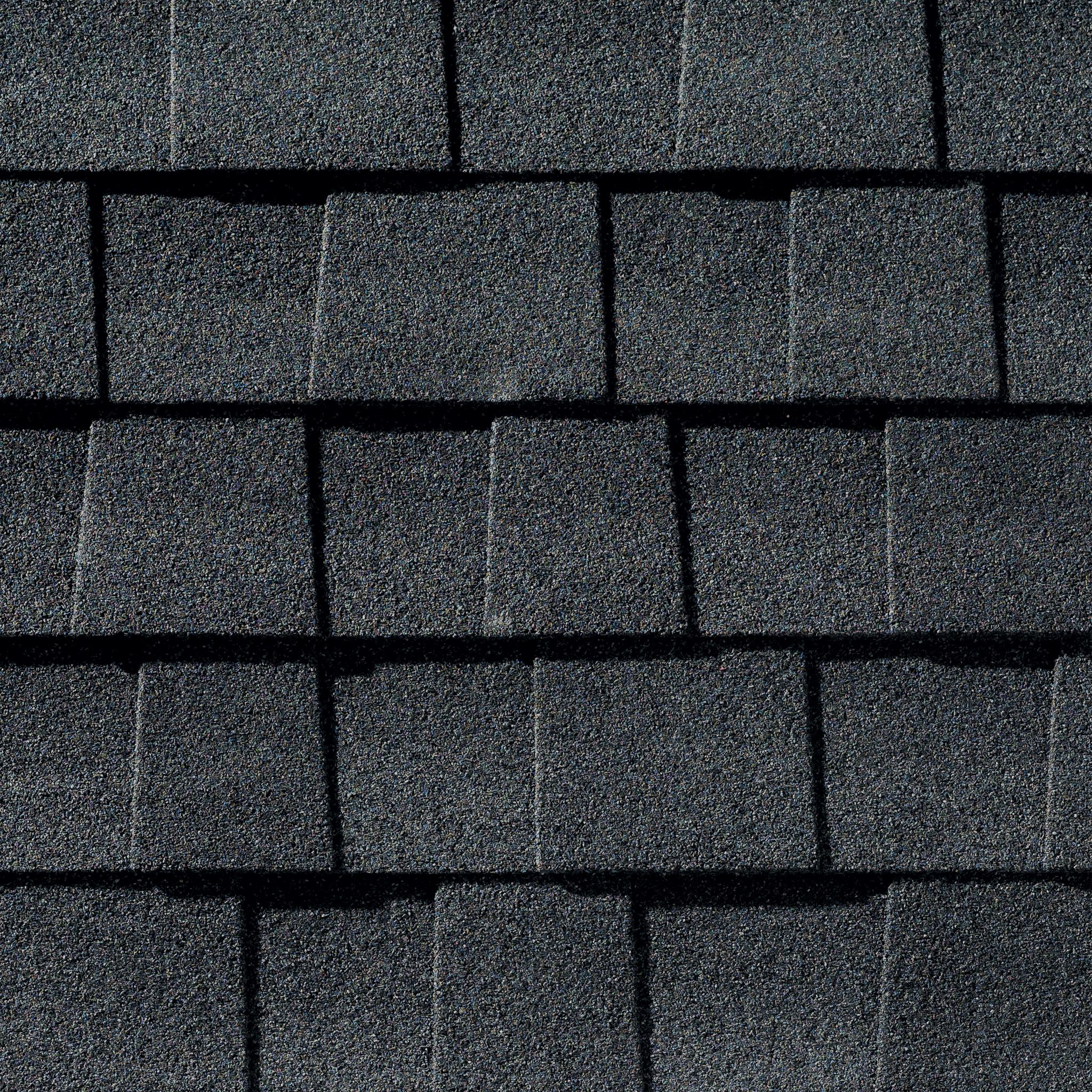 Close up photo of GAF's Timberline Natural Shadow Charcoal shingle swatch