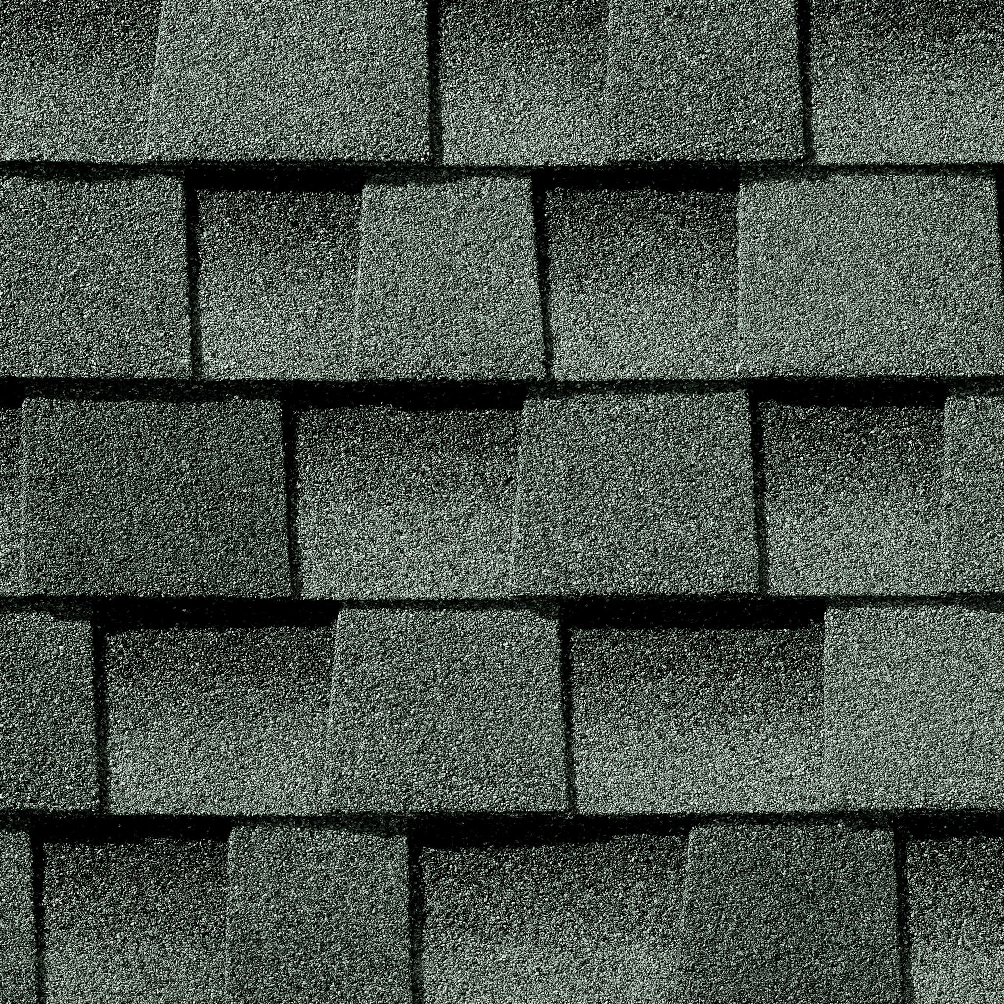 Close up photo of GAF's Timberline Ultra HD Slate shingle swatch