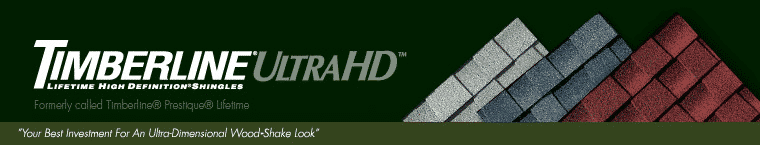 Timberline® Ultra HD™ Lifetime High Definition® Shingles