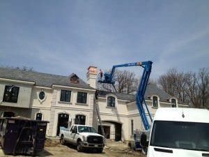 Copper Chimney Cap Installation - Highland Park, IL