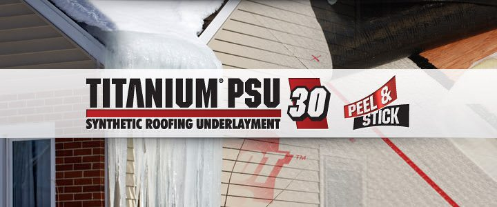 TITANIUM PSU-30 Synthetic Roofing Underlayment