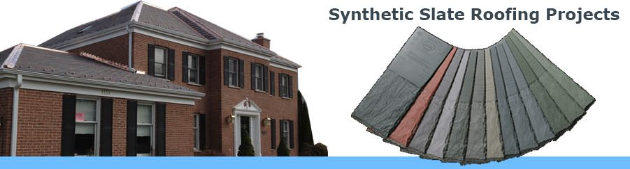 Synthetic Slate Roofing Projects