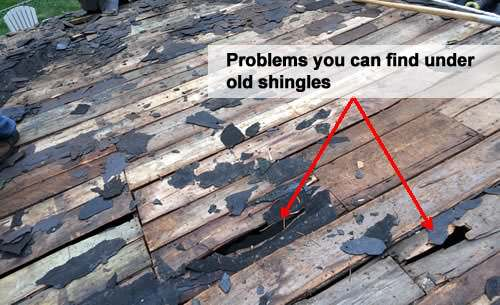 Hidden problems under bad shingles