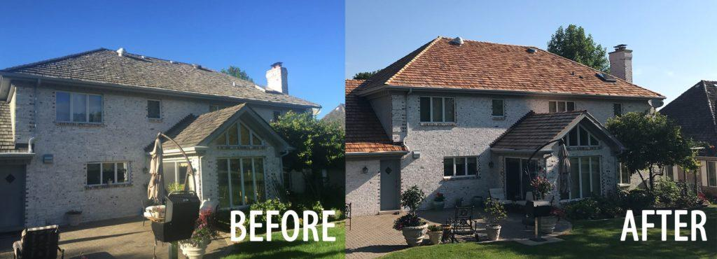 Before and After Project by Local Roofing Contractor AB Edward (847) 827-1605