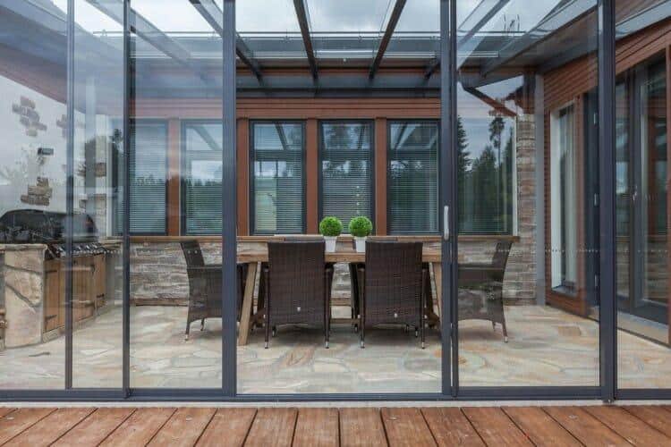 Get protection from wind, rain, UV rays and pests with retractable glass that's easy to use, low maintenance and beautiful! Glass Sunrooms are adding additional living space to your home!