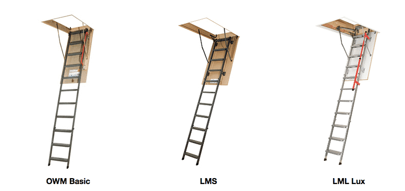 Metal attic ladders